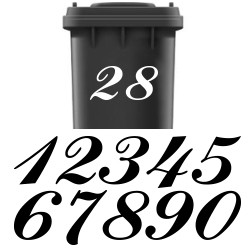 Kliko stickers huisnummer (eigen lettertypen) | Losse cijfers