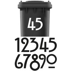 Huisnummer sticker