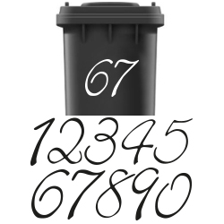 Huisnummer stickers kliko