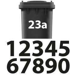 Plakletters vuilniston