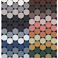 Ronde gekleurde stickers