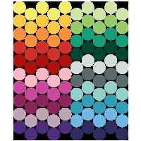 Gekleurde stippen stickers