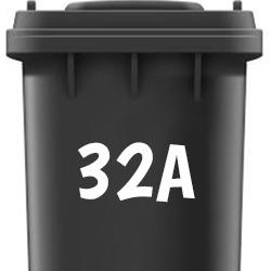 Afvalbak stickers