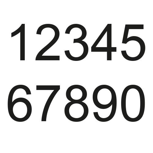 Huisnummer stickers