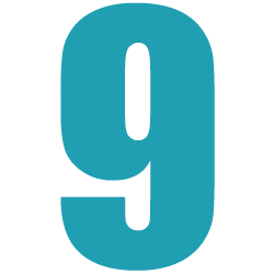 Cijfersticker - Cijfer 9 Impact - Cijferstickers