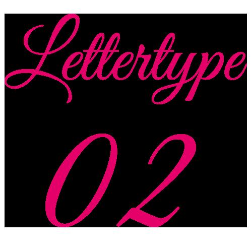 Naamsticker | Lettertype 2