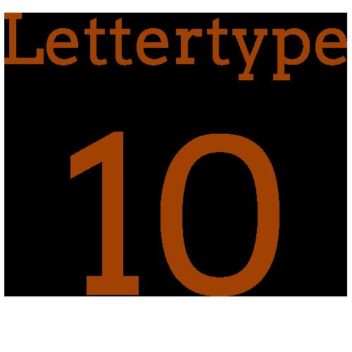 Naamsticker | Lettertype 10