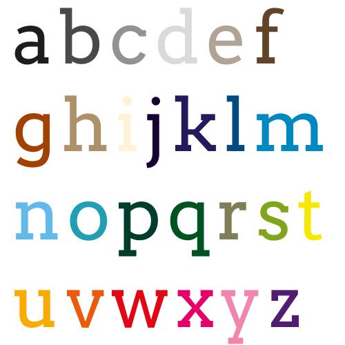 Naamsticker   Lettertype 10