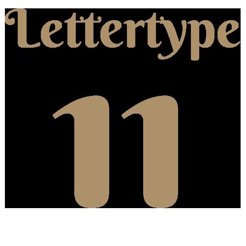 Naamsticker | Lettertype 11