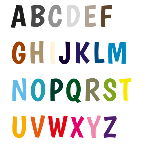 Naamsticker | Lettertype 12