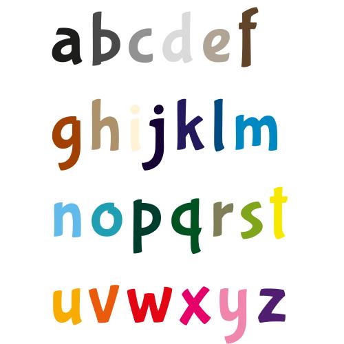Naamsticker | Lettertype 13