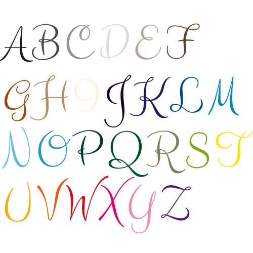 Naamsticker | Lettertype 14