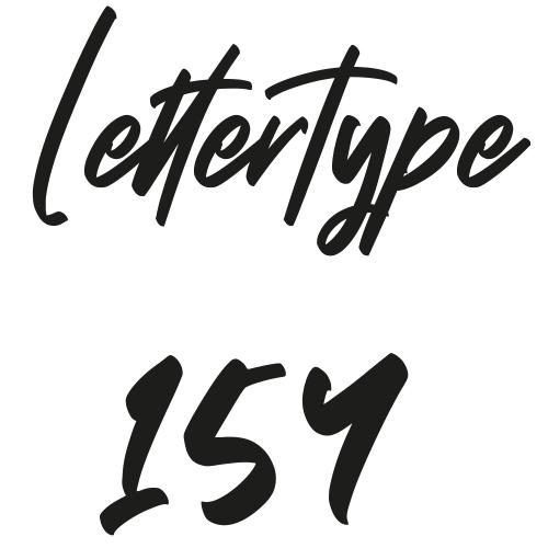 Naamsticker | Lettertype 154