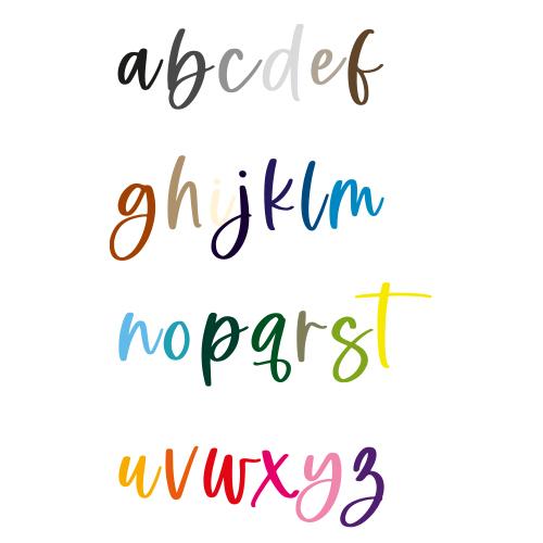 Naamsticker | Lettertype 155
