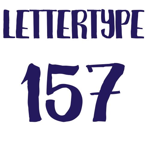 Naamsticker | Lettertype 157