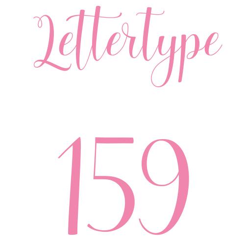 Naamsticker | Lettertype 159