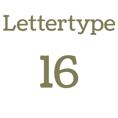 Naamsticker | Lettertype 16