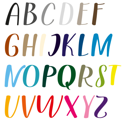 Naamsticker | Lettertype 160