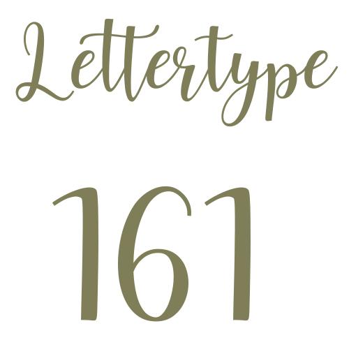 Naamsticker | Lettertype 161