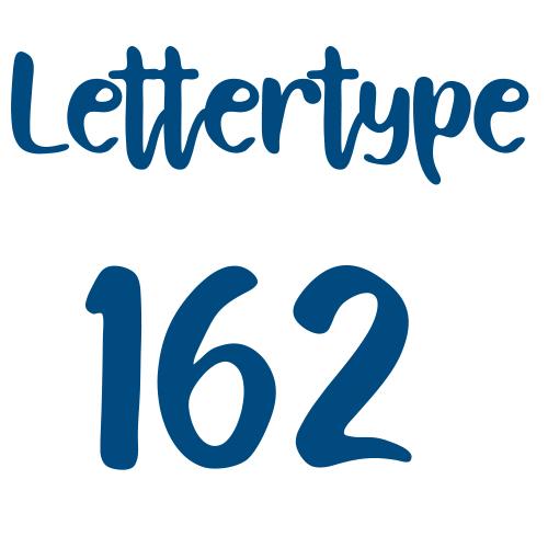 Naamsticker | Lettertype 162
