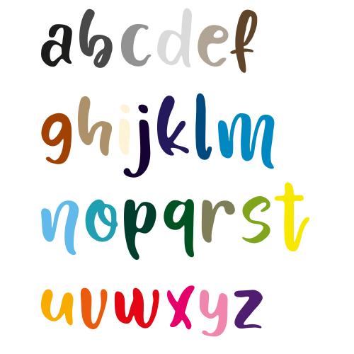 Naamsticker   Lettertype 162