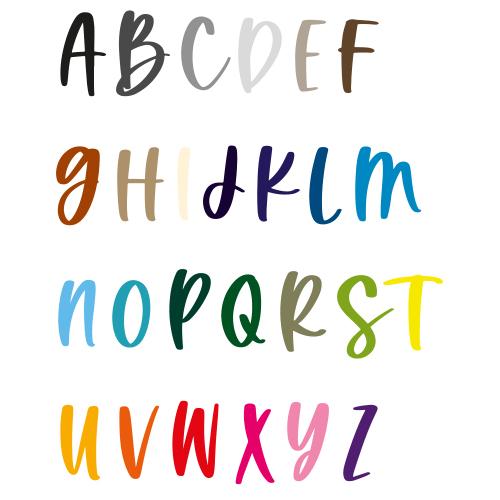 Naamsticker | Lettertype 163