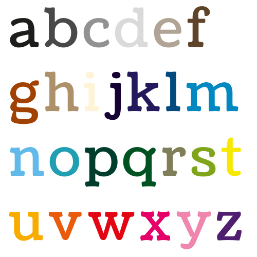 Naamsticker   Lettertype 16