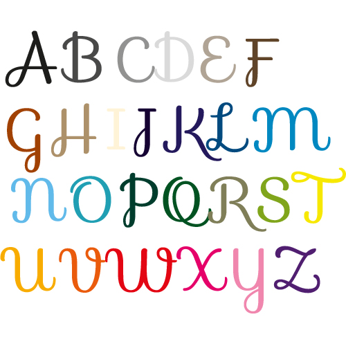 Naamsticker | Lettertype 18