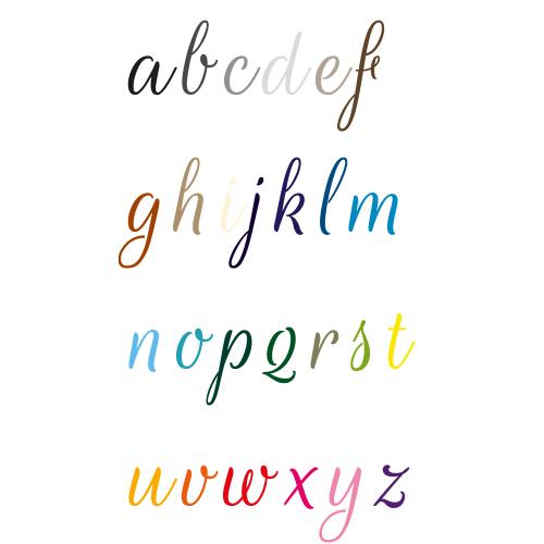 Naamsticker | Lettertype 19