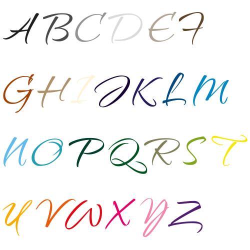 Naamsticker | Lettertype 20