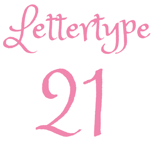 Naamsticker | Lettertype 21