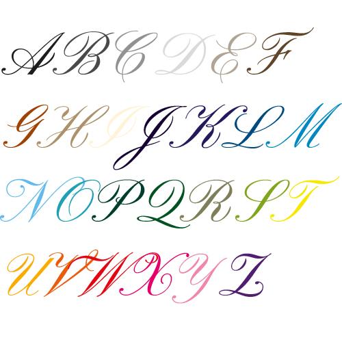 Naamsticker | Lettertype 23