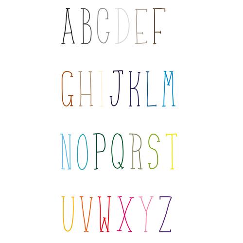 Naamsticker | Lettertype 24