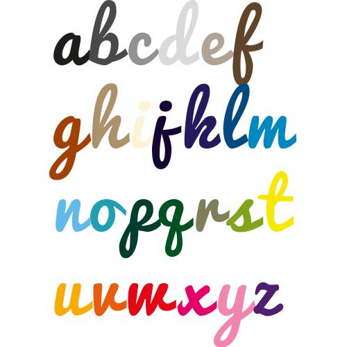 Naamsticker | Lettertype 25