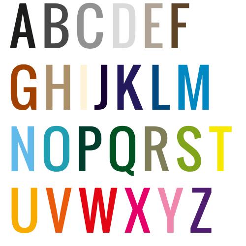 Naamsticker | Lettertype 26