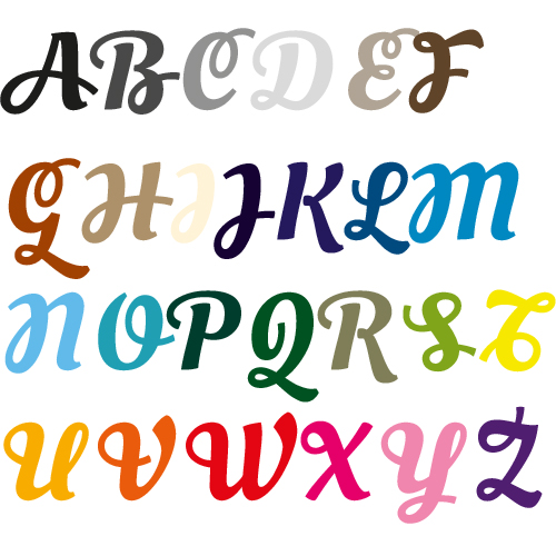 Naamsticker | Lettertype 27