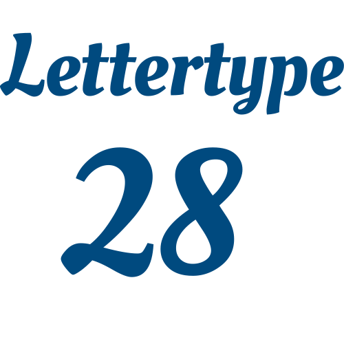 Naamsticker | Lettertype 28