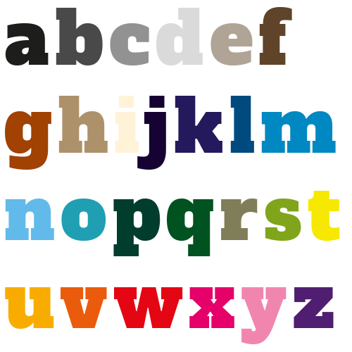 Naamsticker | Lettertype 29