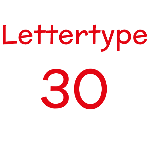Naamsticker | Lettertype 30