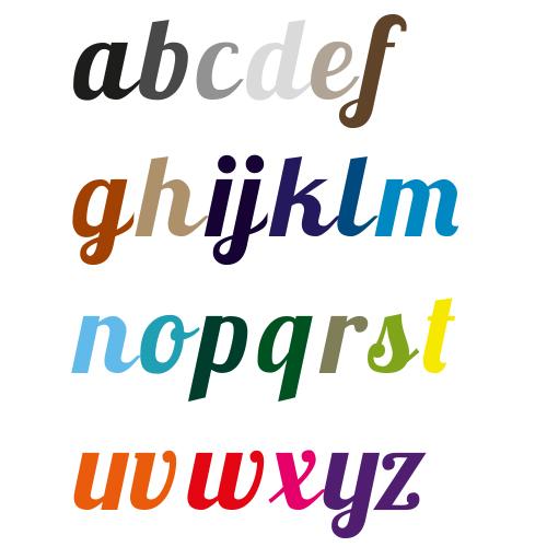 Naamsticker | Lettertype 32