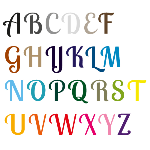 Naamsticker | Lettertype 33