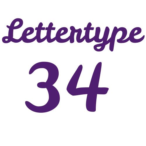 Naamsticker | Lettertype 34