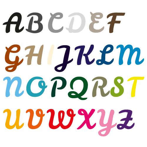 Naamsticker   Lettertype 34