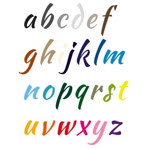Naamsticker | Lettertype 35
