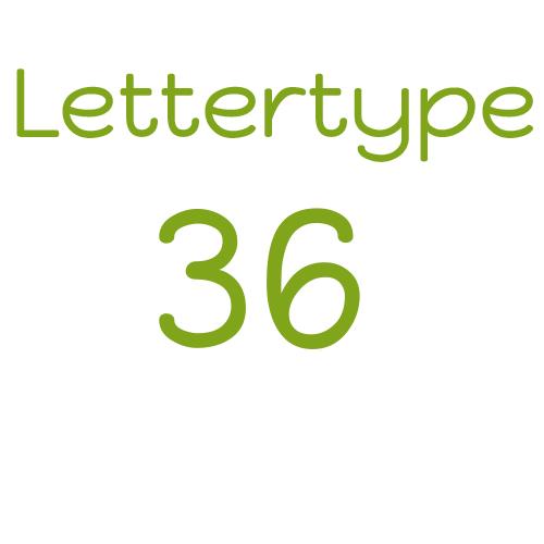 Naamsticker | Lettertype 36