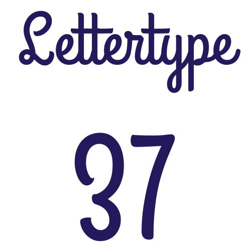 Naamsticker | Lettertype 37