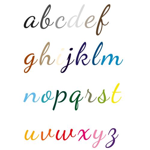 Naamsticker | Lettertype 38