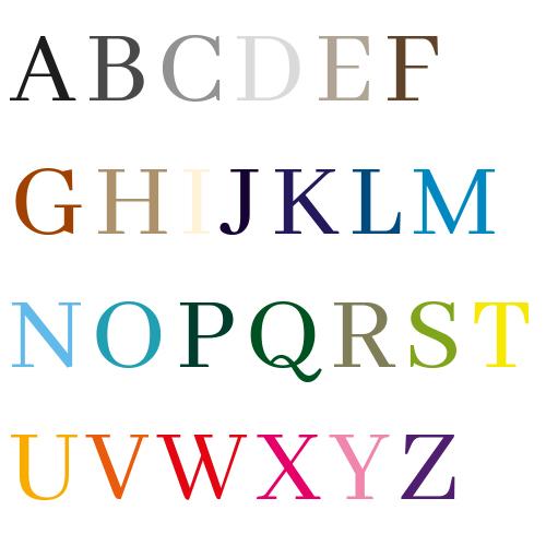 Naamsticker | Lettertype 39