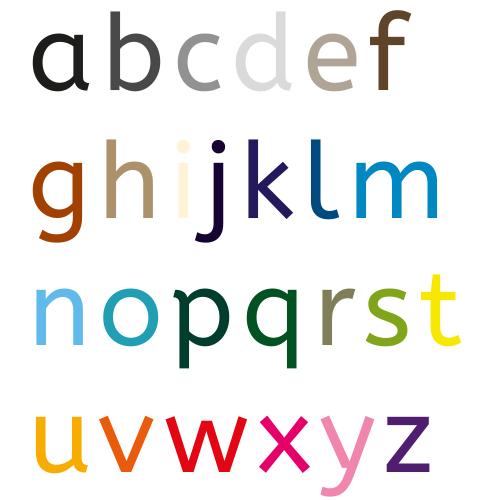 Naamsticker | Lettertype 3