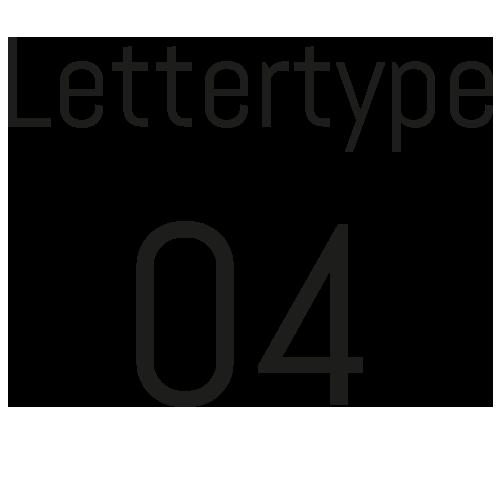 Naamsticker | Lettertype 4